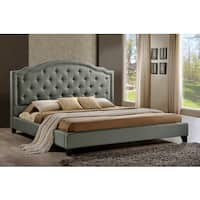 LuXeo Brentwood Tufted Upholstered Contemporary Grey Platform Bed