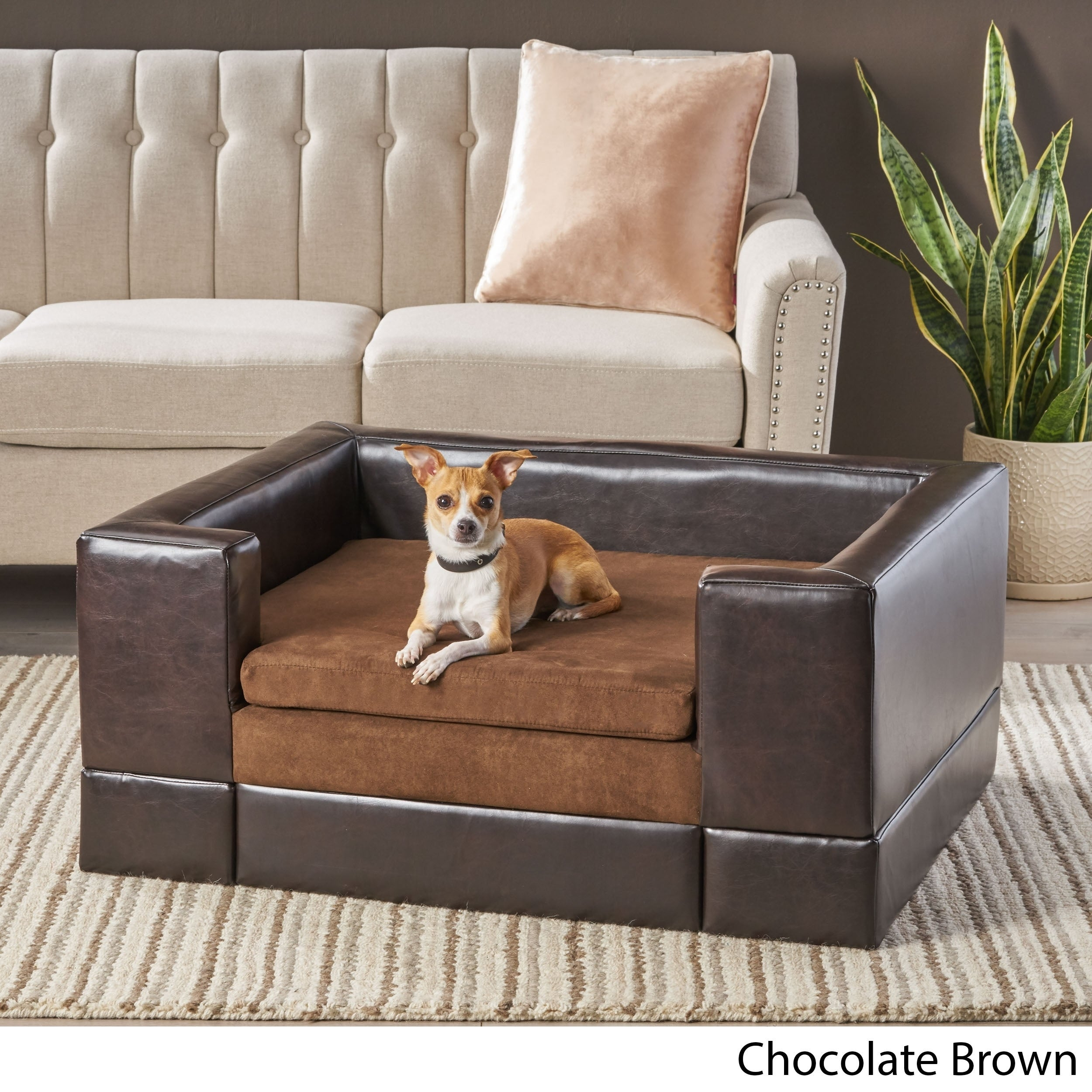 Picture of: Doggerville Large Rectangular Cushy Dog Sofa By Christopher Knight Home Overstock 9229762