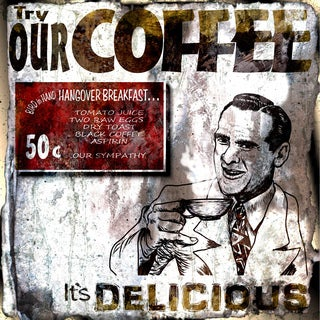 Art in Style Delicious Coffee Sign Giclee on Canvas Wall Art