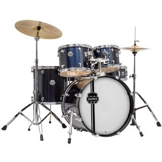 Mapex Voyager Jazz 5-piece Royal Blue Drum Set with Cymbals
