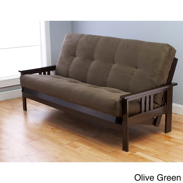 Somette Monterey Hardwood Suede Queen Size Futon Sofa Bed