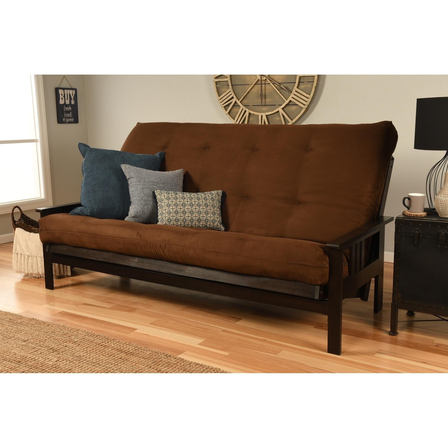 Suede Queen Size Futon Sofa Bed