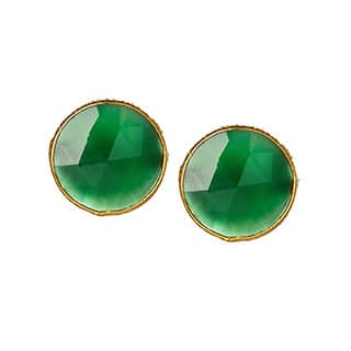 Handmade Saachi 18k Gold Clad Faceted Stud Gemstone Earrings (India)|https://ak1.ostkcdn.com/images/products/9230258/P16397769.jpg?impolicy=medium