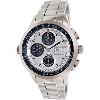 Hamilton Men's H76566151 Silver Stainless-Steel Swiss Automatic Watch with Silver Dial