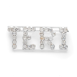 Detti Originals Silver 'TERI' Crystal Name Pin