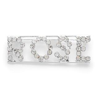 Detti Originals Silver 'ROSE' Crystal Name Pin