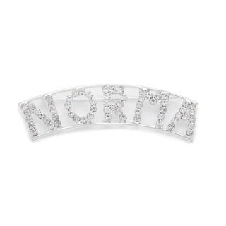 Detti Originals Silver 'NORMA' Crystal Name Pin