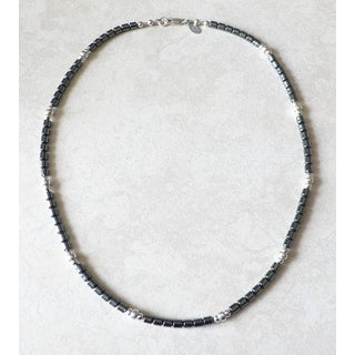 Palmtree Gems 'King's Road' Men's Sterling Silver Hemalyke Necklace