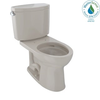 Toto Drake II Two-Piece Elongated 1.28 GPF Universal Height Toilet with CeFiONtect CST454CEFG#03 Bone
