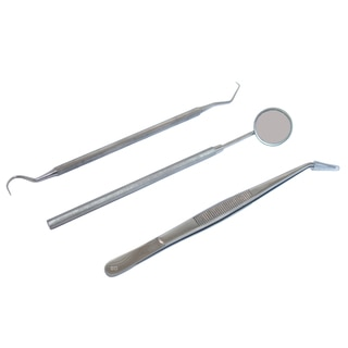 Defender Stainless Steel 3-piece Dental Instruments Set