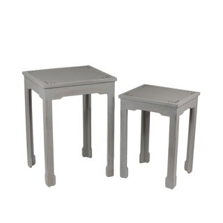 Wood 2-piece Shagreen Tables