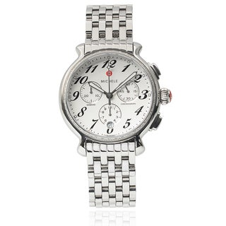 Michele Women's Stainless Steel 'Fluette Diamond' 3/8ct TDW Chronograph Watch
