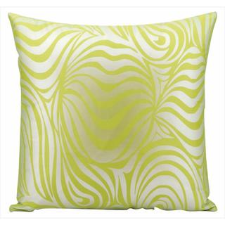 Mina Victory Indoor/Outdoor Zebra Green Throw Pillow (18-inch x 18-inch) by Nourison