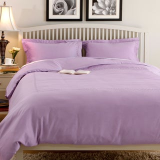 Superior 600 Thread Count Embroidered Cotton Sateen Duvet Cover Set