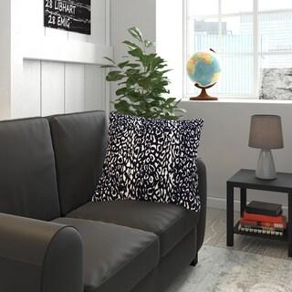 Indoor/ Outdoor Leopard Navy Throw Pillow (20-inch x 20-inch)