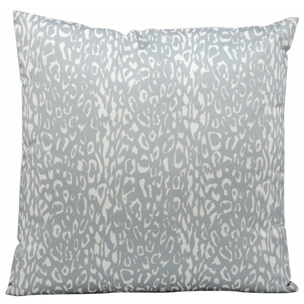 Mina Victory Indoor/Outdoor Leopard Grey Throw Pillowby Nourison (20-Inch X 20-Inch)