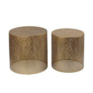 Goldtone 2-piece Accent Tables