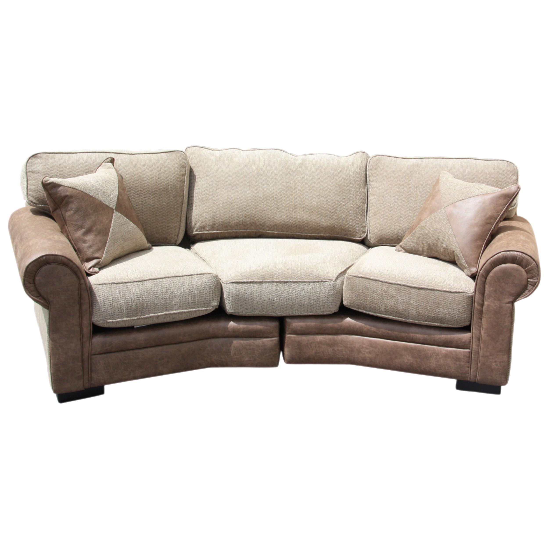 Prime Somette Devon Conversational 2 Piece Leather Patched Tweed Sofa With Hexagon Ottoman Inzonedesignstudio Interior Chair Design Inzonedesignstudiocom