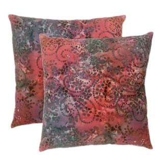 EDIE Batik Malia 20-inch Cotton Throw Pillows (Set of 2)