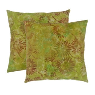 Batik Lime 20-inch Throw Pillows (Set of 2)