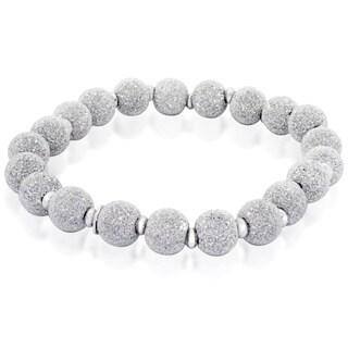 Gioelli Sterling Silver Stretch Ball Bracelet