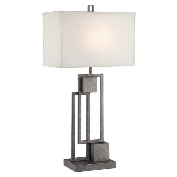 Lite Source Volterra Antique Patina Geometric 1-light Table Lamp