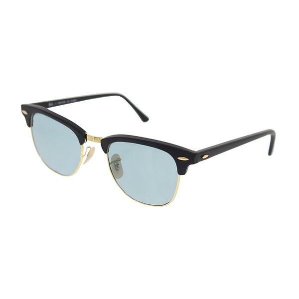 ray ban clubmaster matte  Ray-Ban Clubmaster Polarized Sunglasses 51mm - Matte Black Frame ...