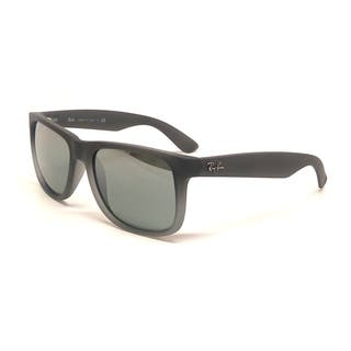 Ray-Ban Justin Wayfarer RB4165 Unisex Grey Frame Silver Gradient Lens Sunglasses|https://ak1.ostkcdn.com/images/products/9231220/P16398644.jpg?impolicy=medium