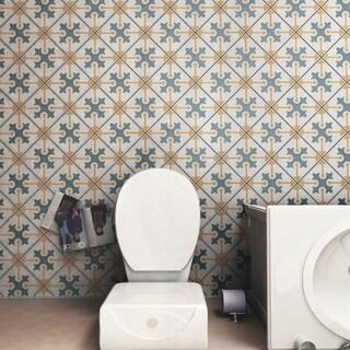 SomerTile 7.75x7.75-inch Renaissance Spectrum Ceramic Floor and Wall Tile (25 tiles/11 sqft.)