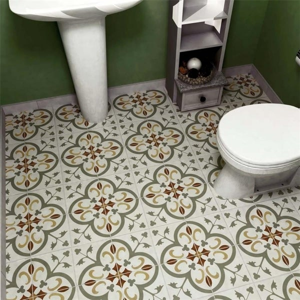 Shop Somertile 775x775 Inch Renaissance Memory Ceramic Floor And