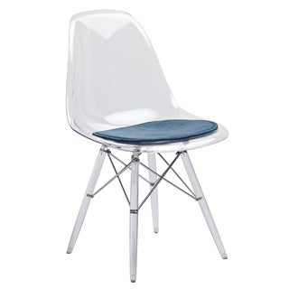 American Atelier Living Navy Blue Cushion Clear Banks Chair