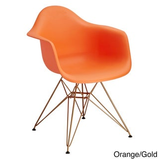 Shop Design Guild Living Banks Chair With Gold Legs