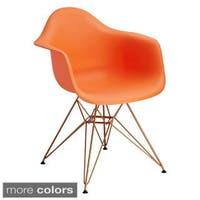 American Atelier Design Guild Living White or Orange Banks Chair