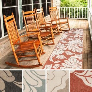 Meticulously Woven Noelle Contemporary Floral Indoor/Outdoor Area Rug (2'3 x 11'9)