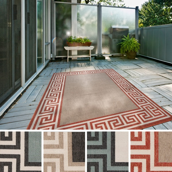 Annette Contemporary Bordered Indoor/Outdoor Area Rug (2'3 x 4'6)