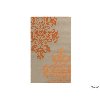 Hand-hooked Adrianne Contemporary Floral Indoor/Outdoor Area Rug - 3' x 5'
