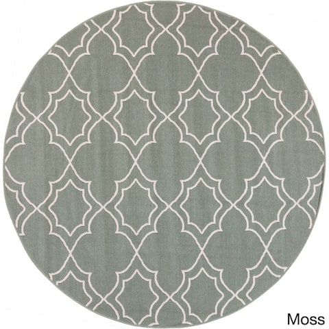 Natasha Contemporary Trellis Indoor/Outdoor Area Rug