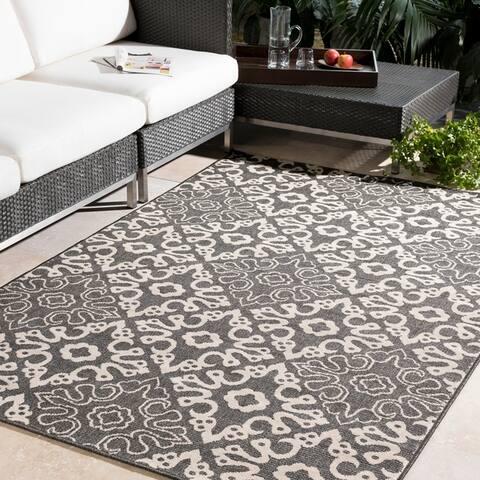 Olivia Contemporary Geometric Indoor/Outdoor Area Rug