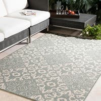Olivia Contemporary Geometric Indoor/Outdoor Area Rug - 5'3