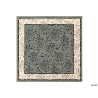 Janelle Contemporary Floral Indoor/Outdoor Area Rug (8'9 Square) - 8'9 x 8'9