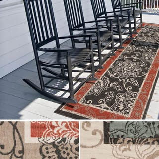 Meticulously Woven Janelle Contemporary Floral Indoor/Outdoor Area Rug (2'3 x 11'9)