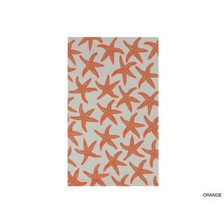 Hand-hooked Mia Transitional Starfish Indoor/Outdoor Area Rug (5' x 8')
