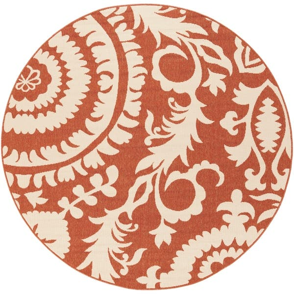 Shop Nina Contemporary Floral Indoor Outdoor Area Rug On Sale