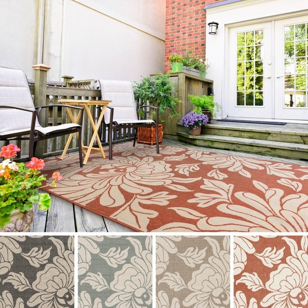 Contemporary Outdoor Area Rugs: Meticulously Woven Noelle Contemporary Floral Indoor