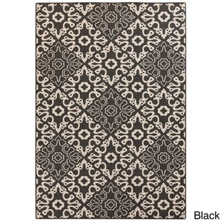 Olivia Contemporary Geometric Indoor/Outdoor Area Rug (5'3 x 7'6) - 5'3 x 7'6 (3 options available)