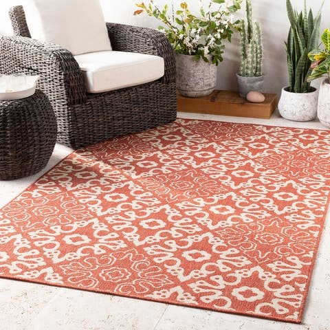 Olivia Transitional Medallions Indoor/Outdoor Area Rug
