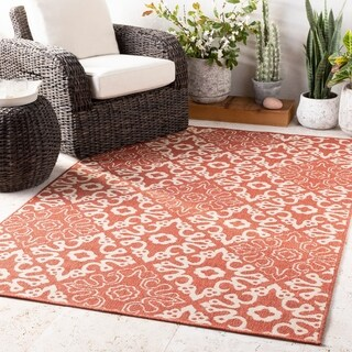 Olivia Contemporary Geometric Indoor/Outdoor Area Rug (5'3 x 7'6)