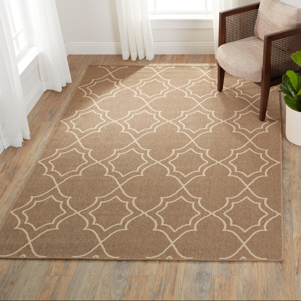 Natasha Contemporary Trellis Indoor/Outdoor Area Rug (6' x 9') - 6' x 9'