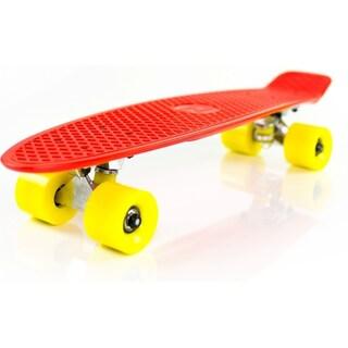 Boss Board Complete 22-inch Vintage Skateboard (Option: Red)