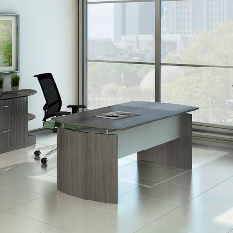 Mayline Medina 72-inch Desk with Curved End Panels